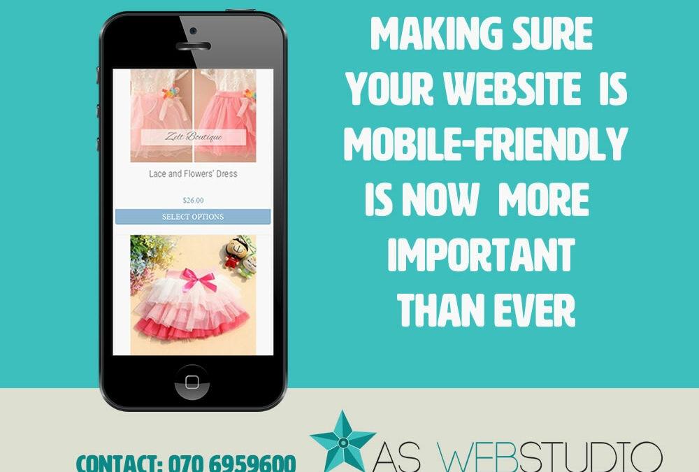 Anpassa hemsidan för mobiler…