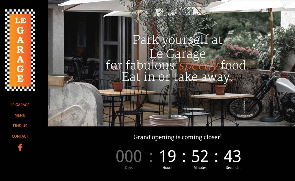 AS webstudio har byggt en hemsida till en ny restaurang i Frankrike