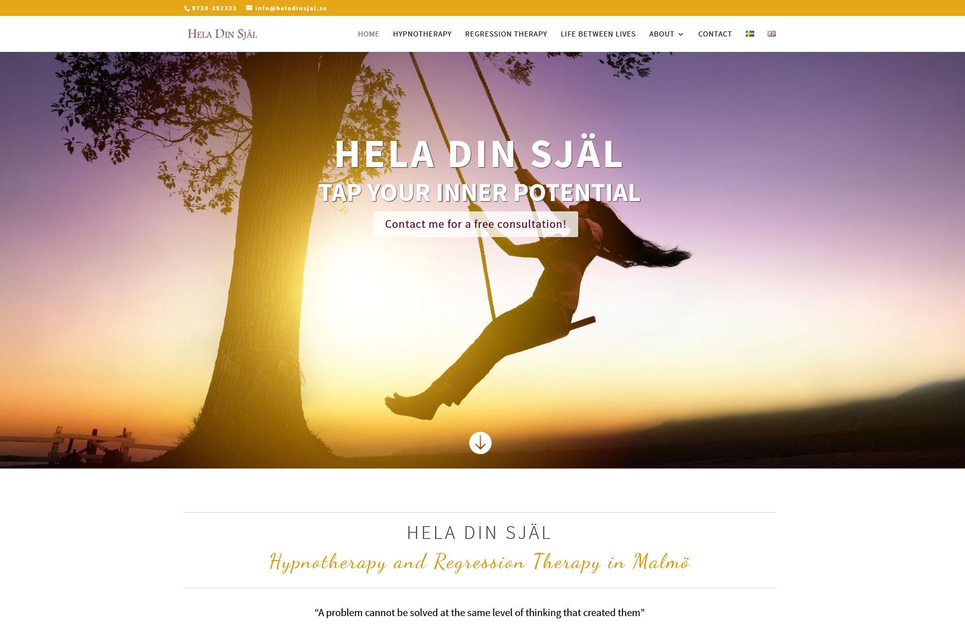 Ny hemsida till Hela din själ och Adelaide Bat Care