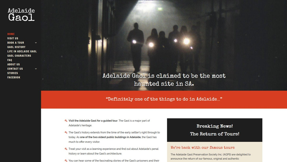 Ny hemsida till museum i Adelaide