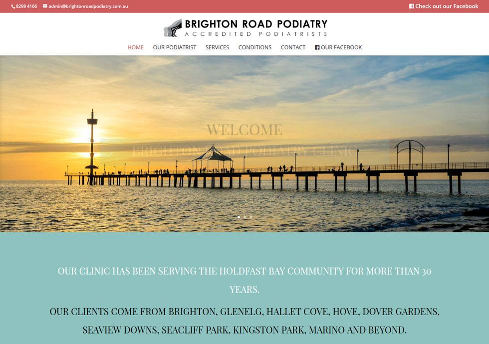 Byggt ny hemsida till Brighton Road Podiatry