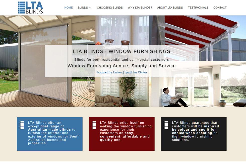 Ny hemsida till Lta Blinds