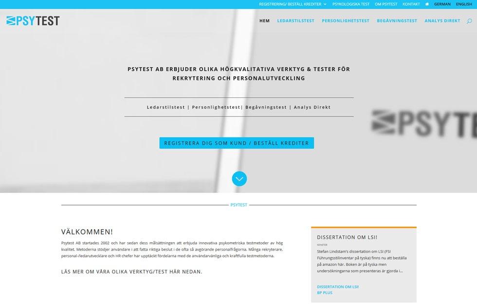 Ny hemsida till Psytest i Malmö
