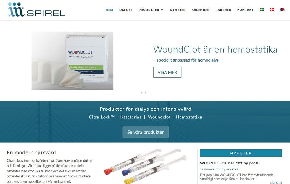 Ny hemsida till Spirel byggd av AS webstudio