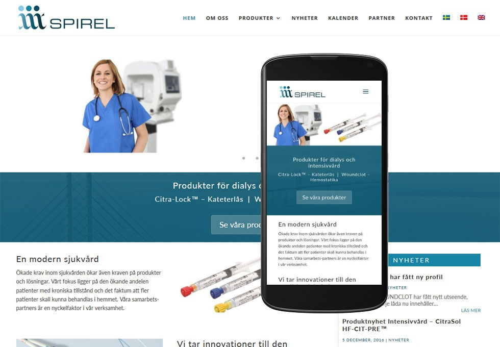 Ny hemsida till Spirel – i tre olika språk