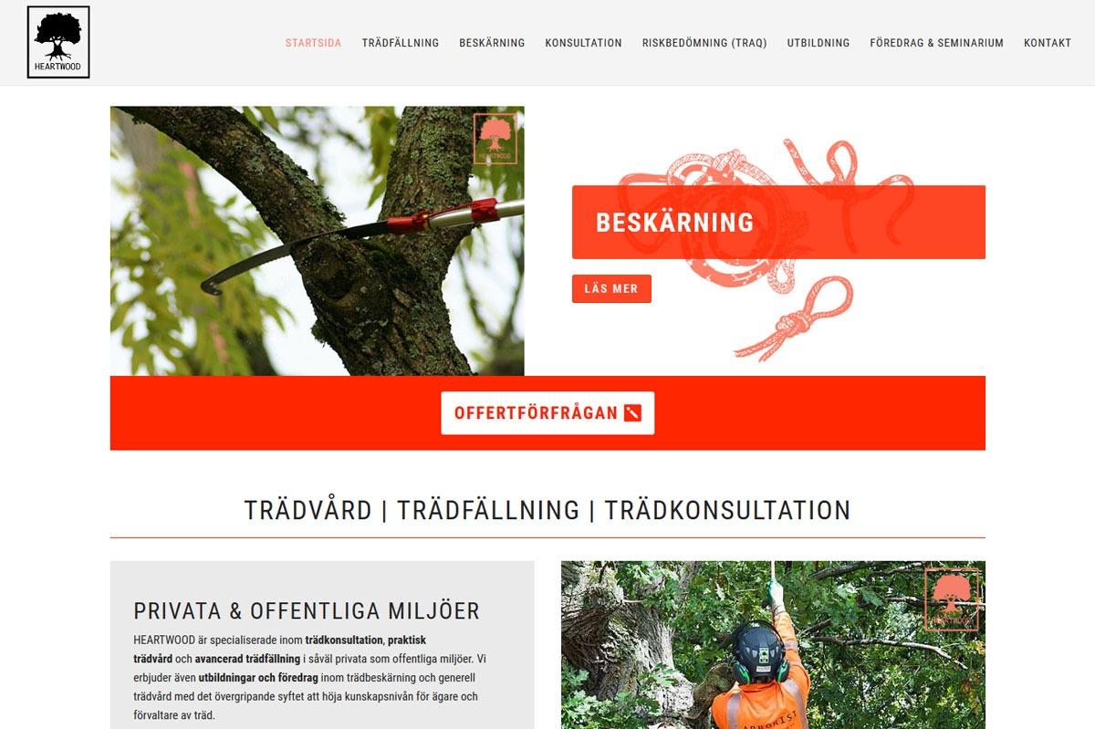 AS webstudio har byggt en ny hemsida till Heartwood i Malmö