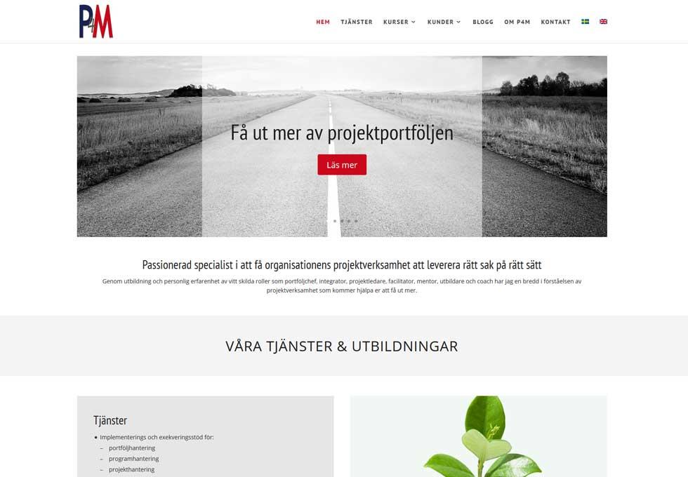 AS webstudio har byggt en ny hemsida till P4M i Malmö