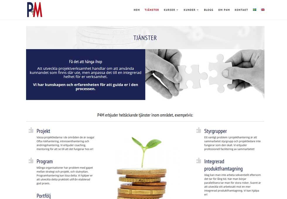 AS webstudio har bygget en ny hemsida till P4M i Malmö