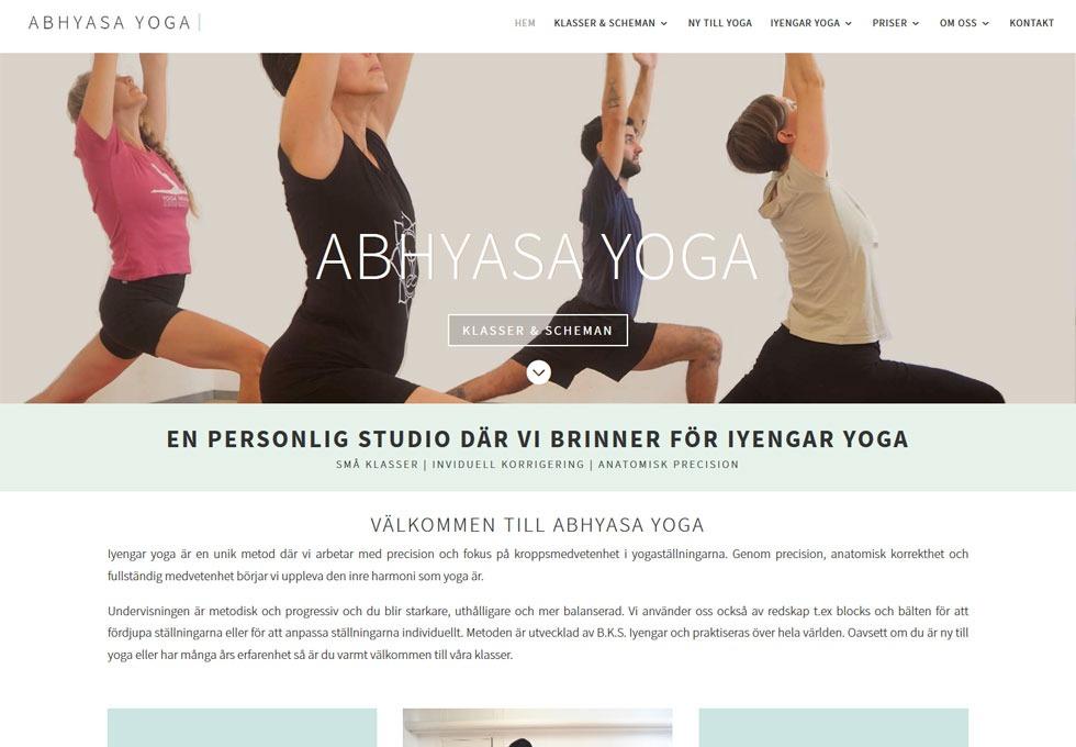 AS webstudio har byggt en ny hemsida till Abhyasa Yoga i Malmö