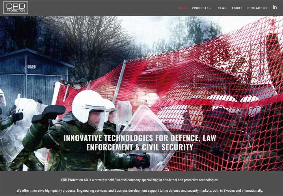 Ny hemsida byggd till CRD Protection