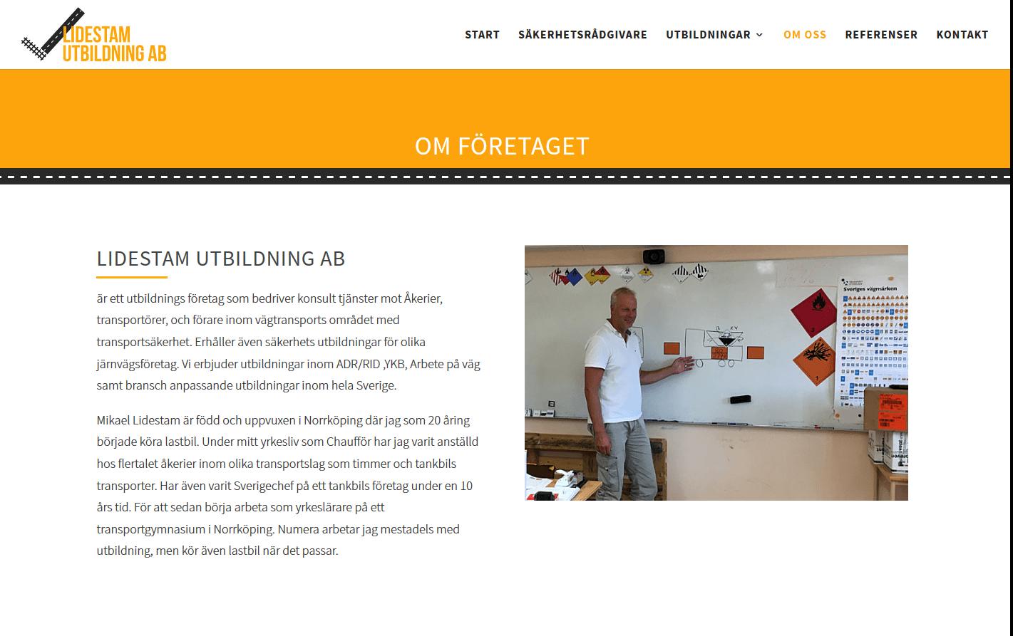 Ny hemsida till Lidestam Utbildning