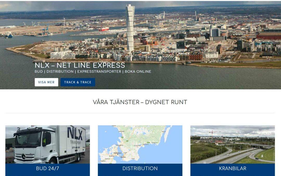 Ny hemsida till transport- och budföretag i Malmö