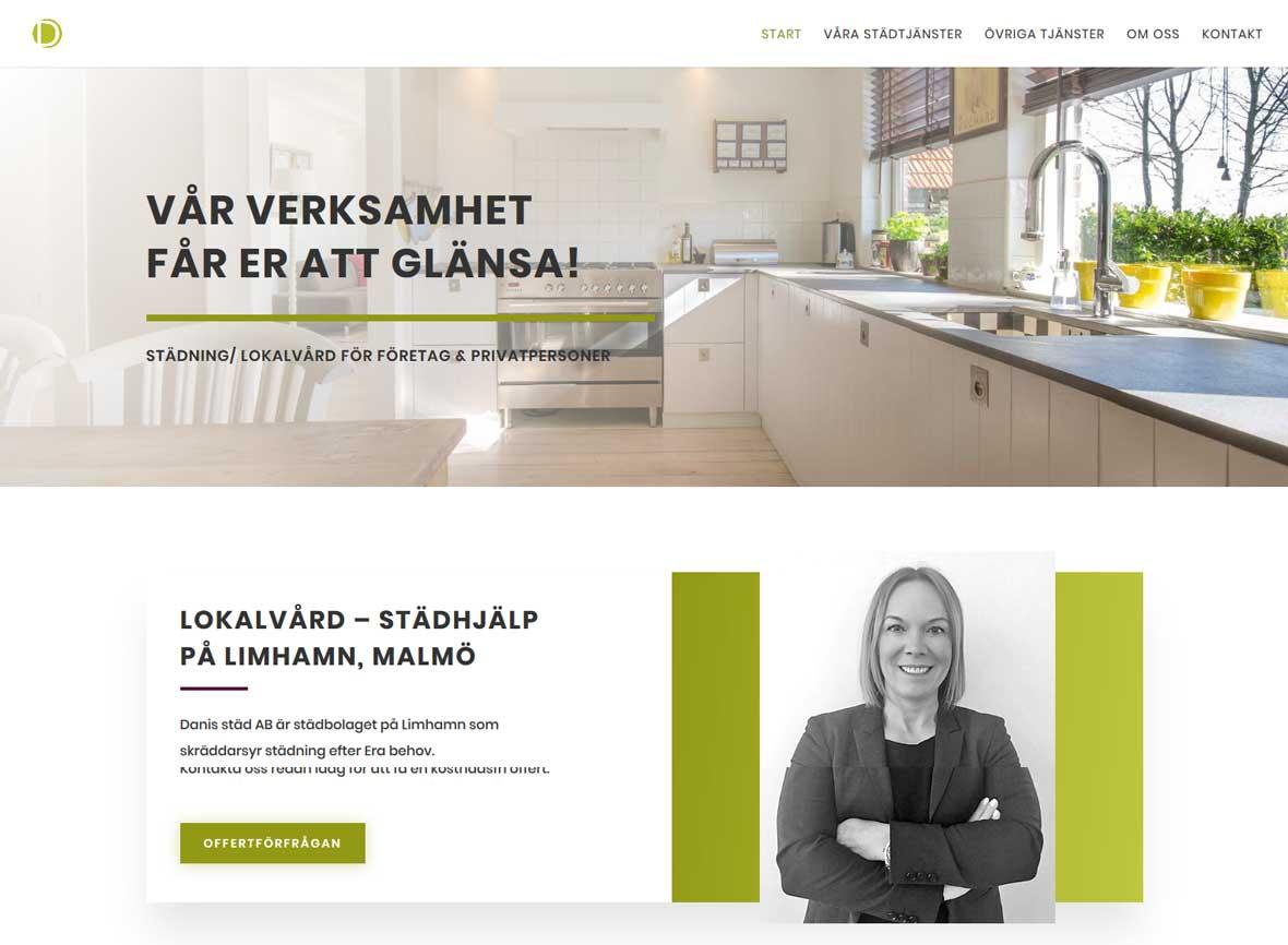 As webstudio har byggt en ny hemsida till städföretag på Limhamn