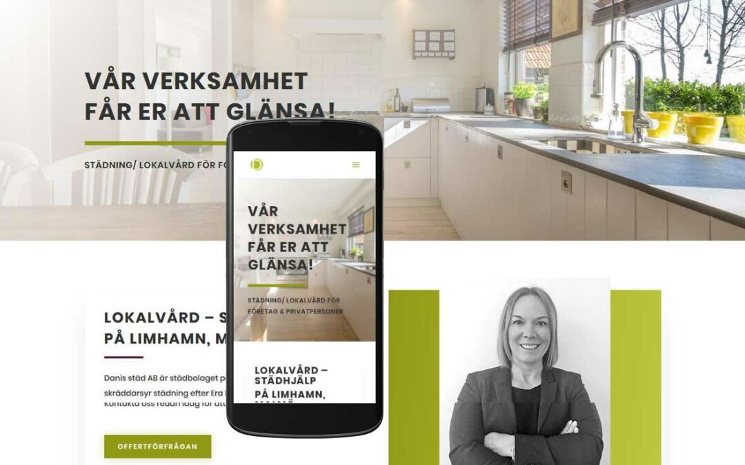 Ny hemsida byggd till städföretag på Limhamn