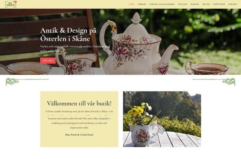 Ny hemsida till butik på Österlen