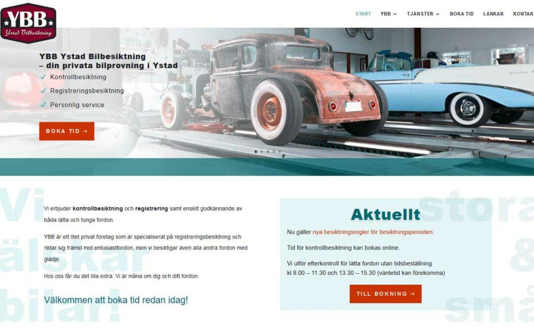 Ny hemsida byggd till företag i Ystad