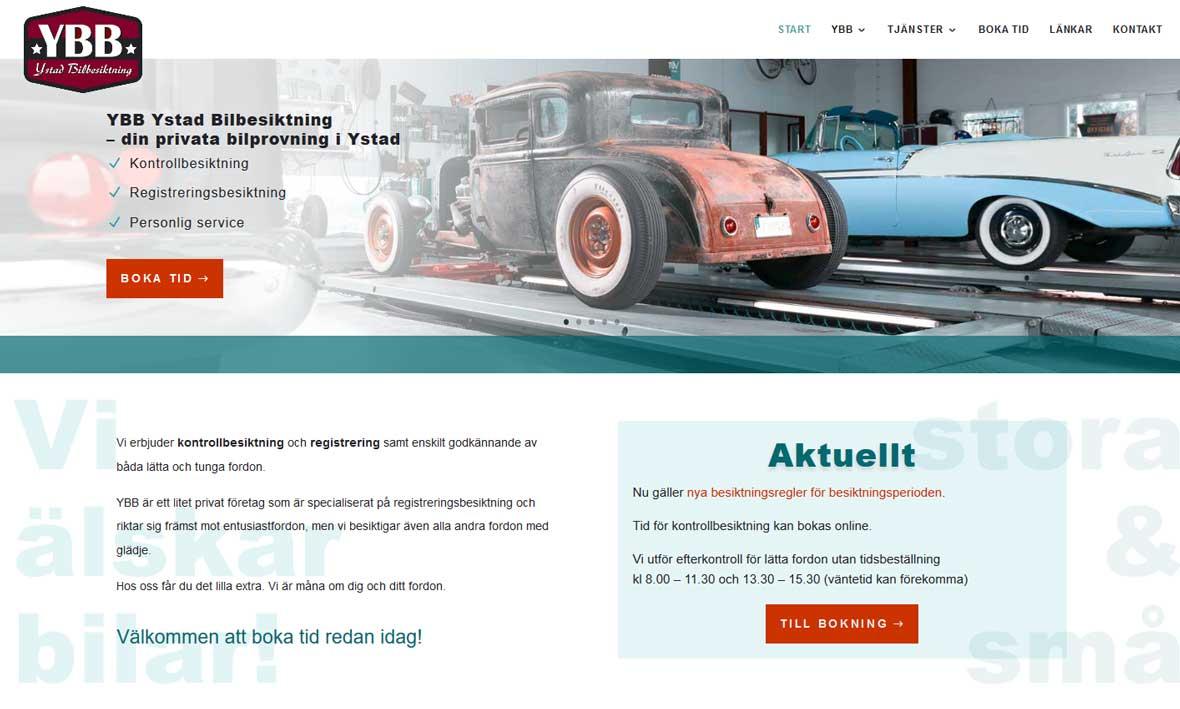 Ny hemsida till företag i Ystad