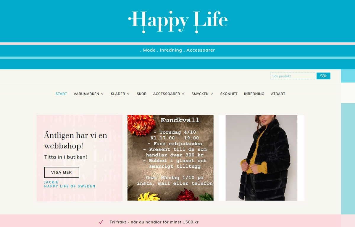 AS webstudio har byggt en webbshop