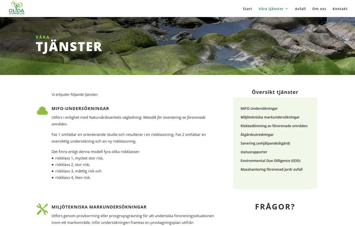 Ny hemsida till konsultföretag byggd av AS webstudio