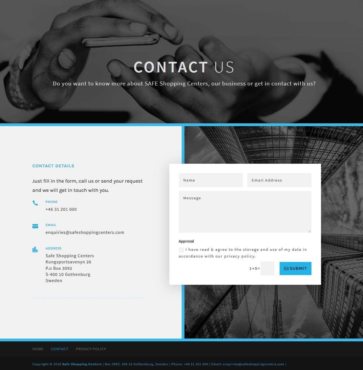 Ny hemsida byggd av AS webstudio i Malmö till konsultföretag