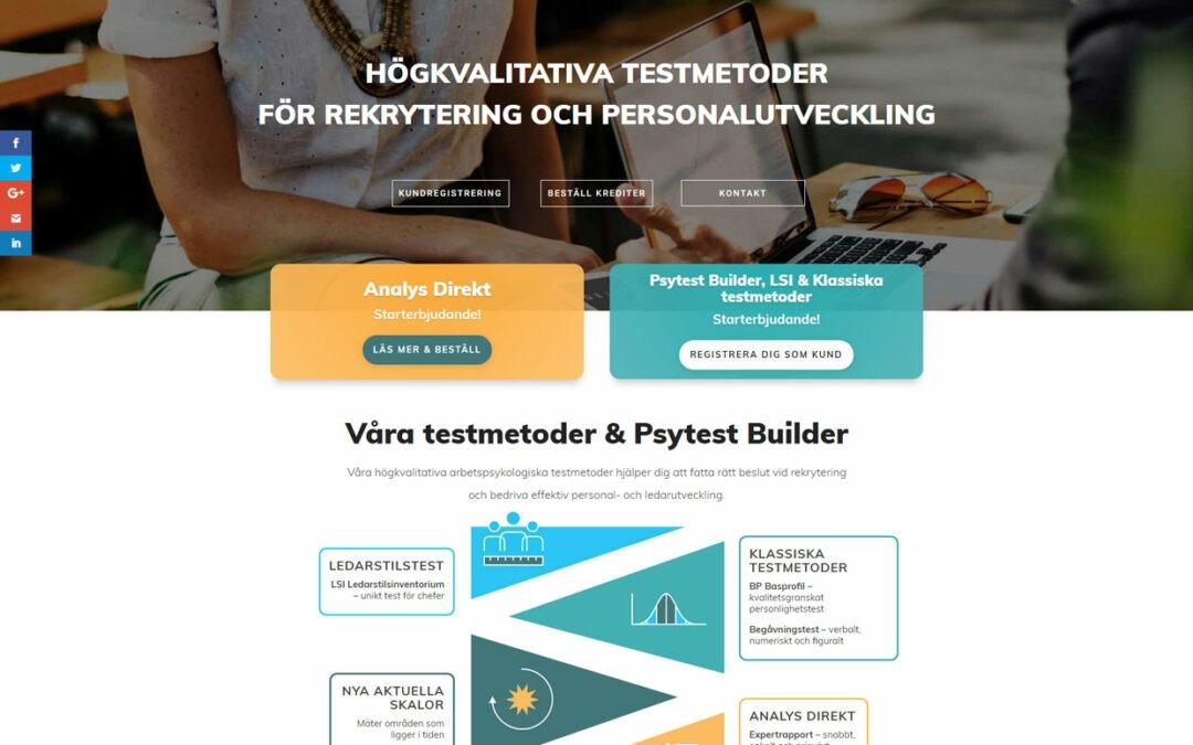 Redesign av hemsida