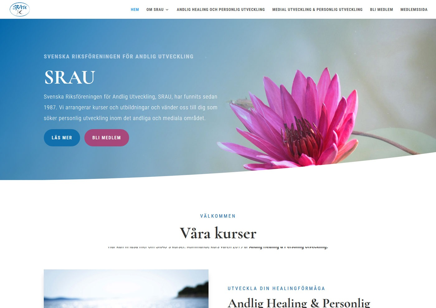 Byggt ny hemsida till förening - AS webstudio