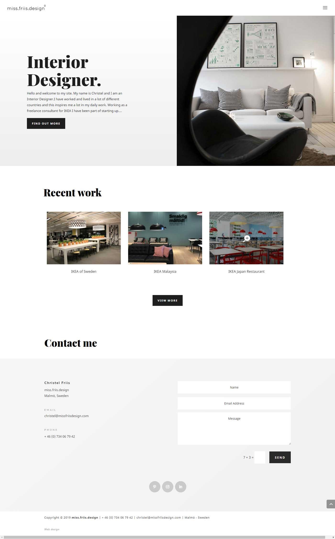 Visar bild av hemsida byggd av AS webstudio på Limhamn, Malmö