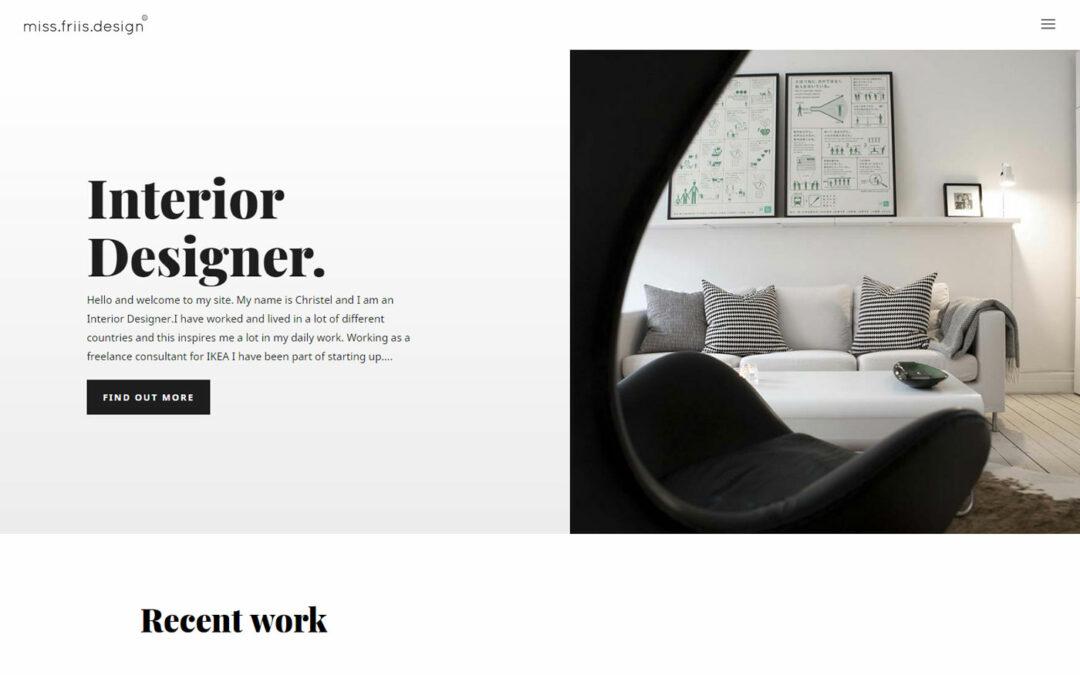 Designat en hemsida till en designer