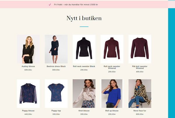 Webbshop/ Onlinebutik byggd av AS webstudio