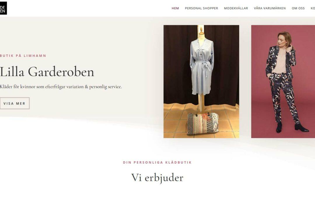 Ny hemsida till butik på Limhamn