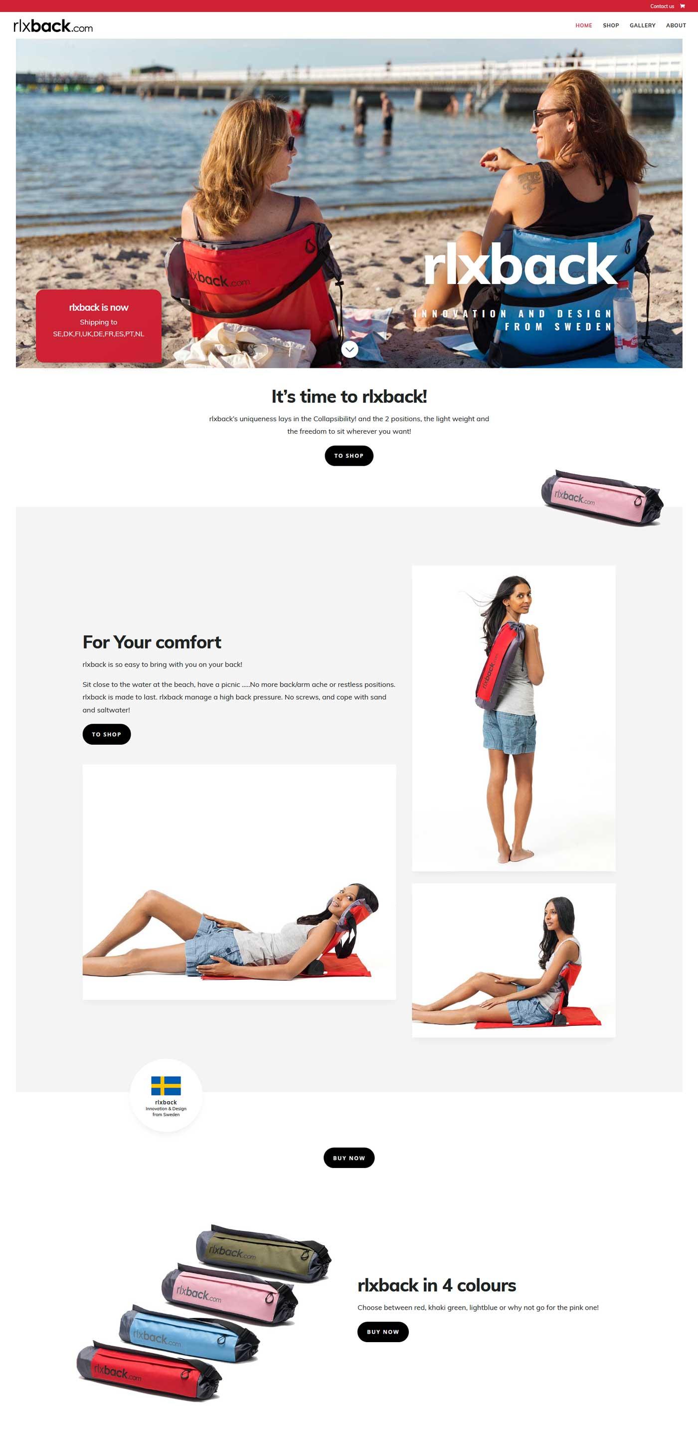 Exempel på hemsida & webbshop byggda av  AS westudio