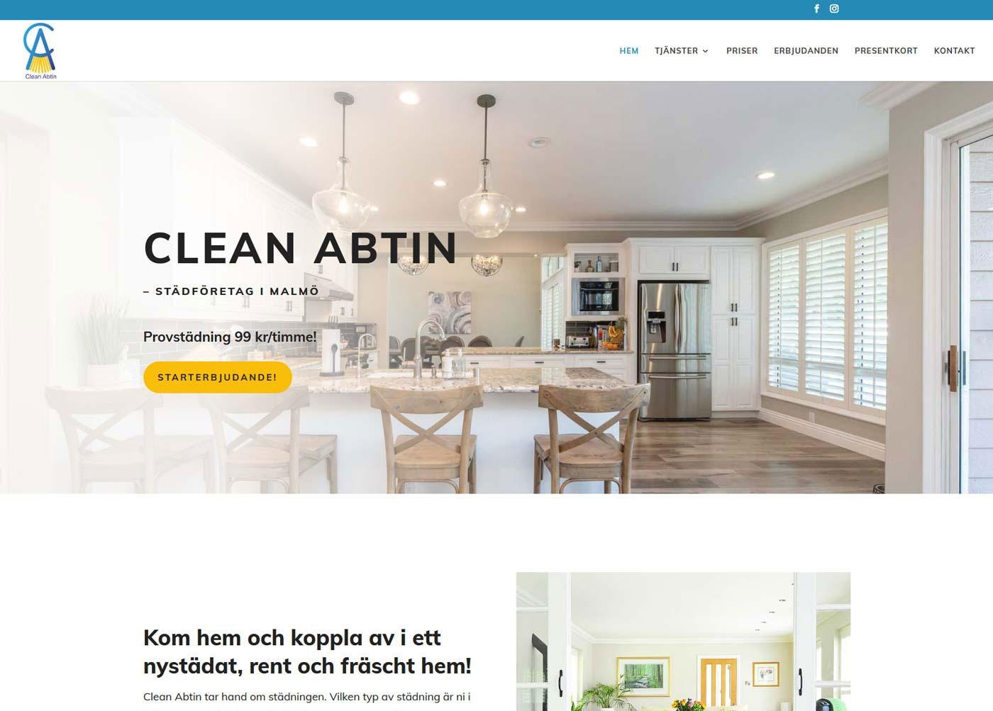 """Ny hemsida med """"clean"""" design"""