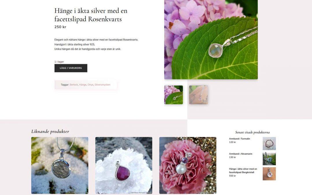 Naturlig webbshop med ett Instagramflöde på startsidan
