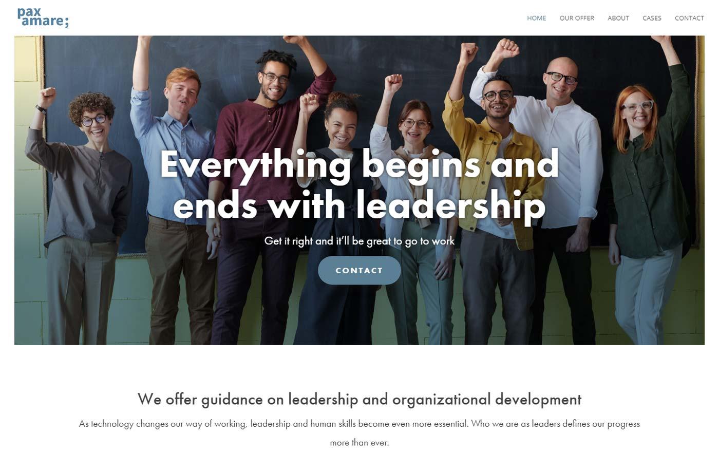 Ny hemsida till tjänsteföretag