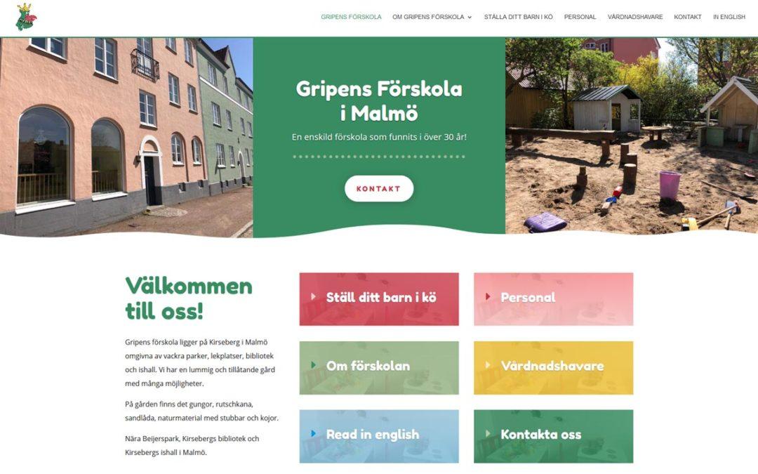 Ny lekfull hemsida till en förskola