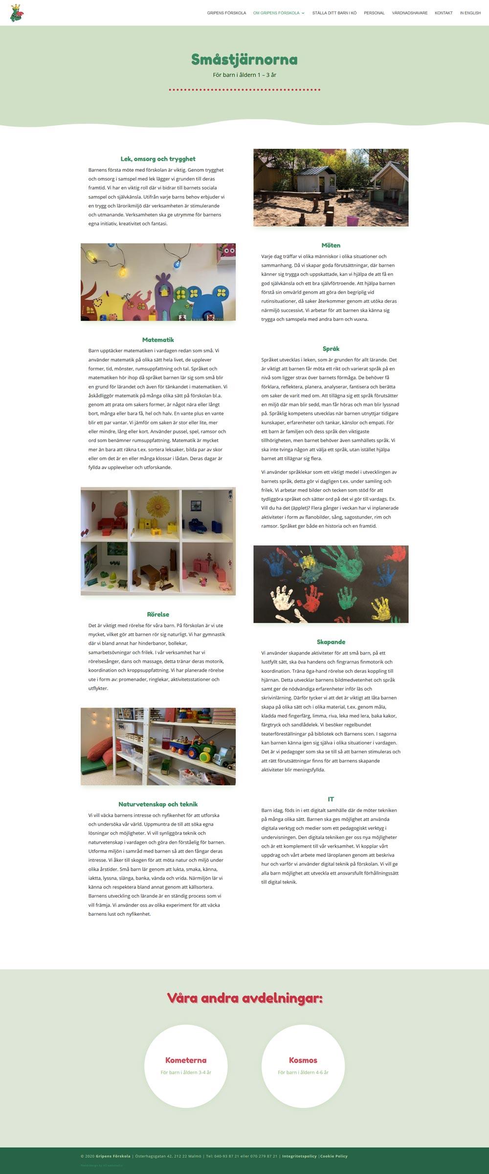 Ny hemsida byggd till förskola