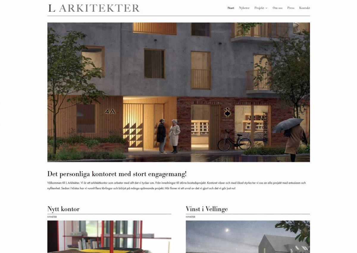 Byggt ny hemsida till arkitekter i Malmö