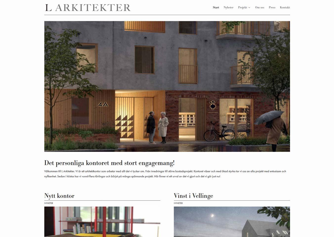 Ny hemsida till företag i Malmö