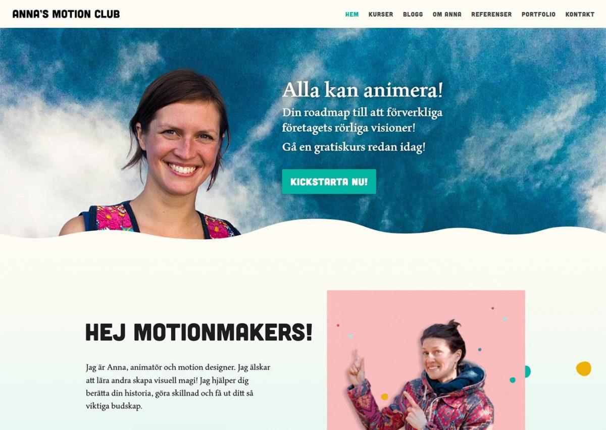 Cool hemsida till cool tjej i Stockholm!