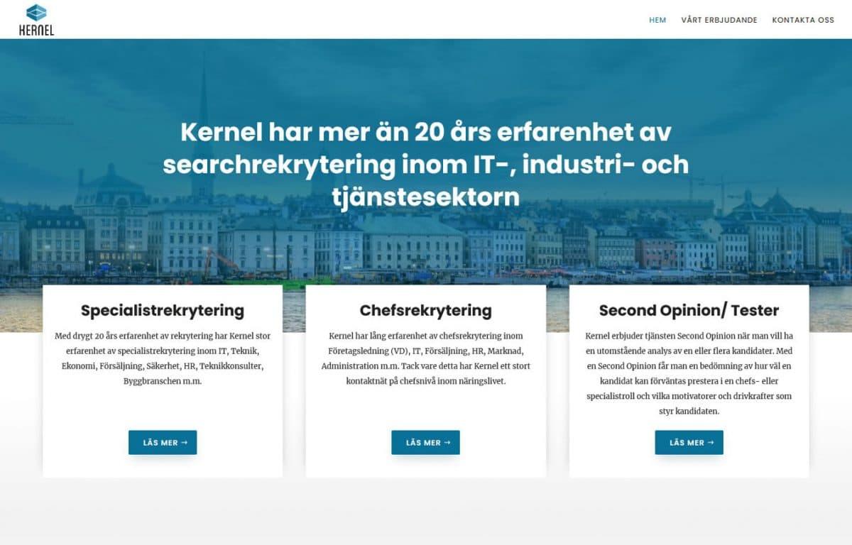 Ny hemsida till rekryteringsföretag i Stockholm