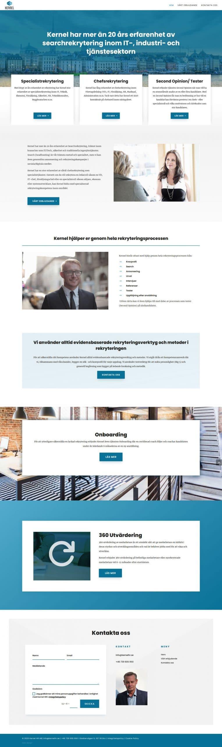 Ny hemsida byggd till företag i Stockholm
