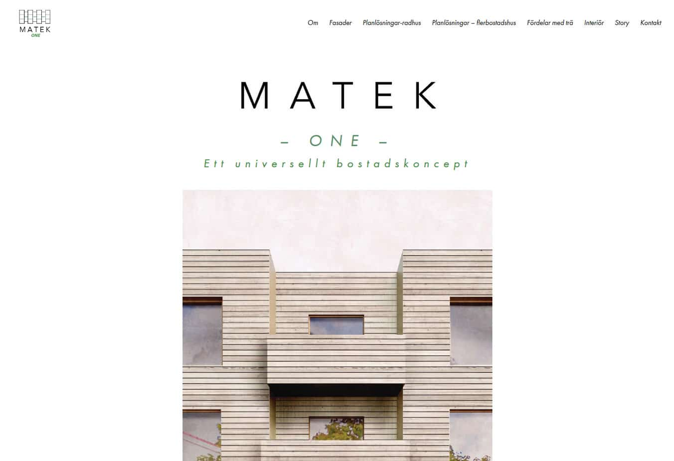 Ny hemsida för bostadskoncept