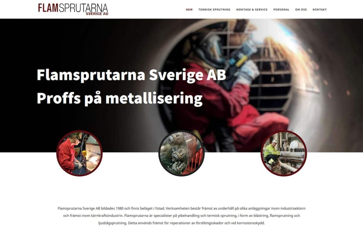 Proffsigt företag i Ystad har fått en ny hemsida
