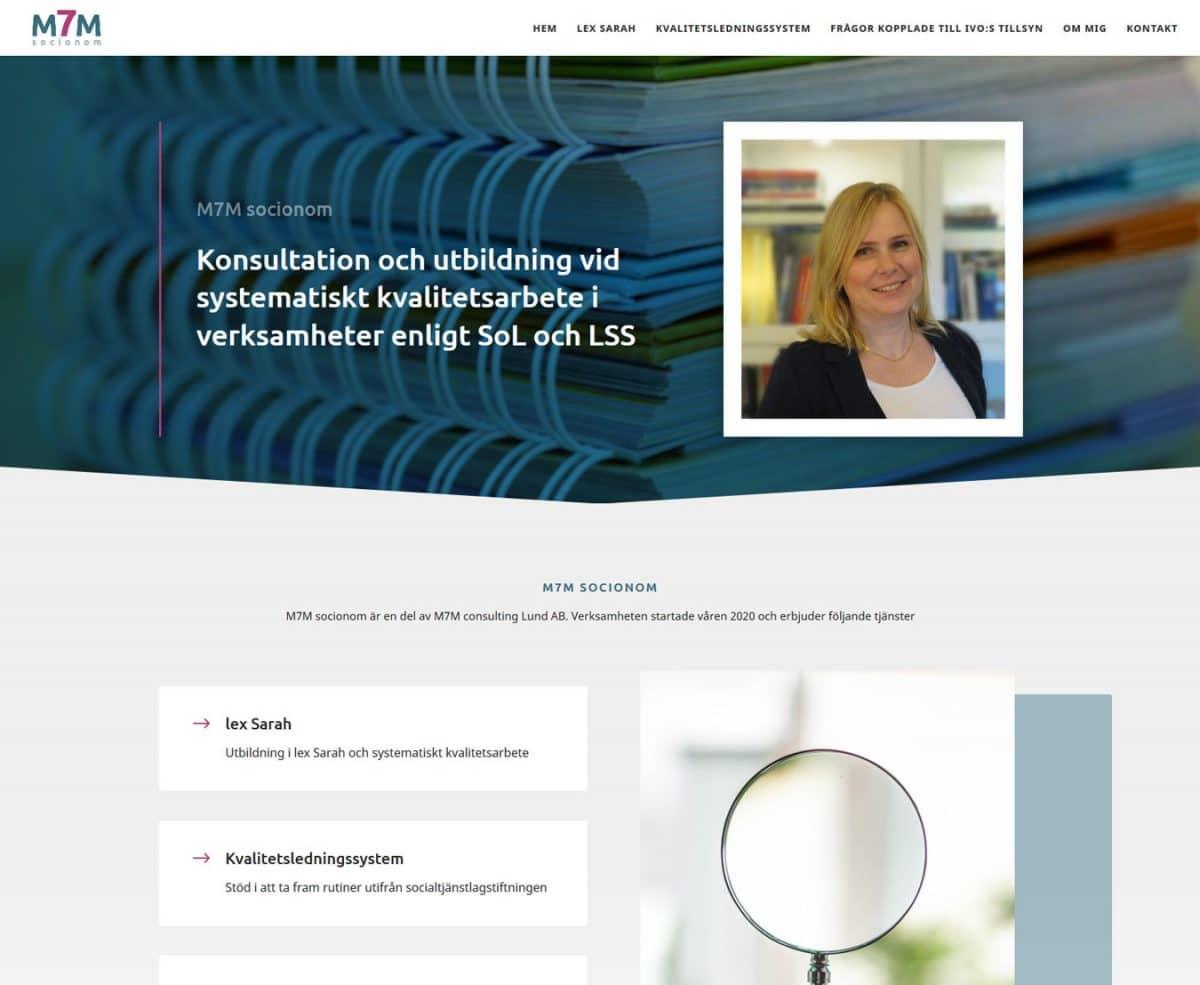 Konsultföretag i Lund har fått ny hemsida