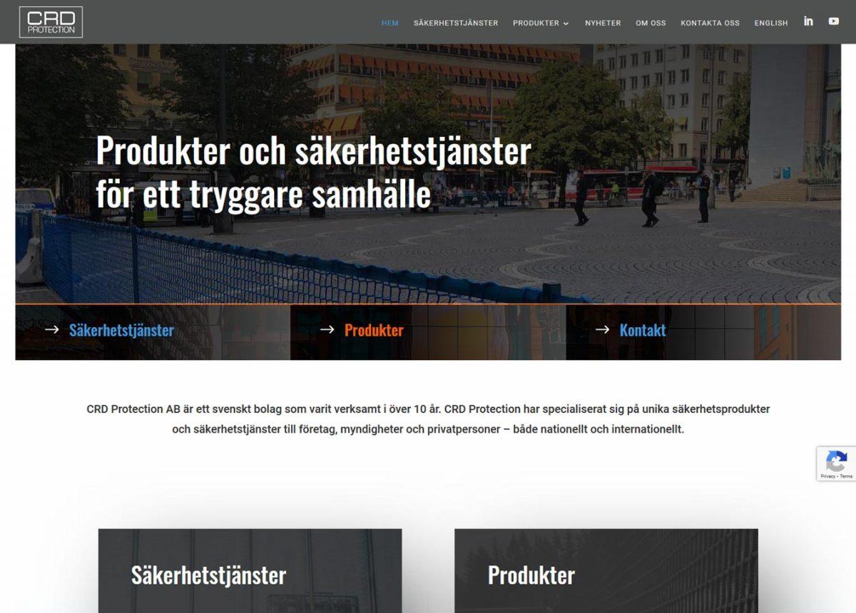 Redesign av hemsida för säkerhetsföretag i Umeå