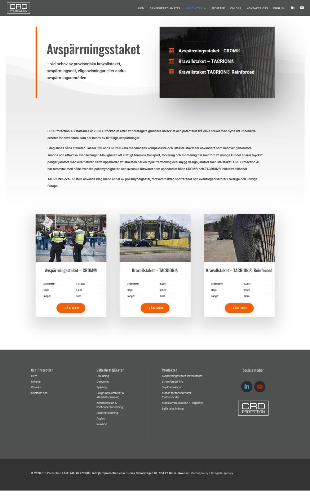 Redesign av hemsida för företag i Umeå