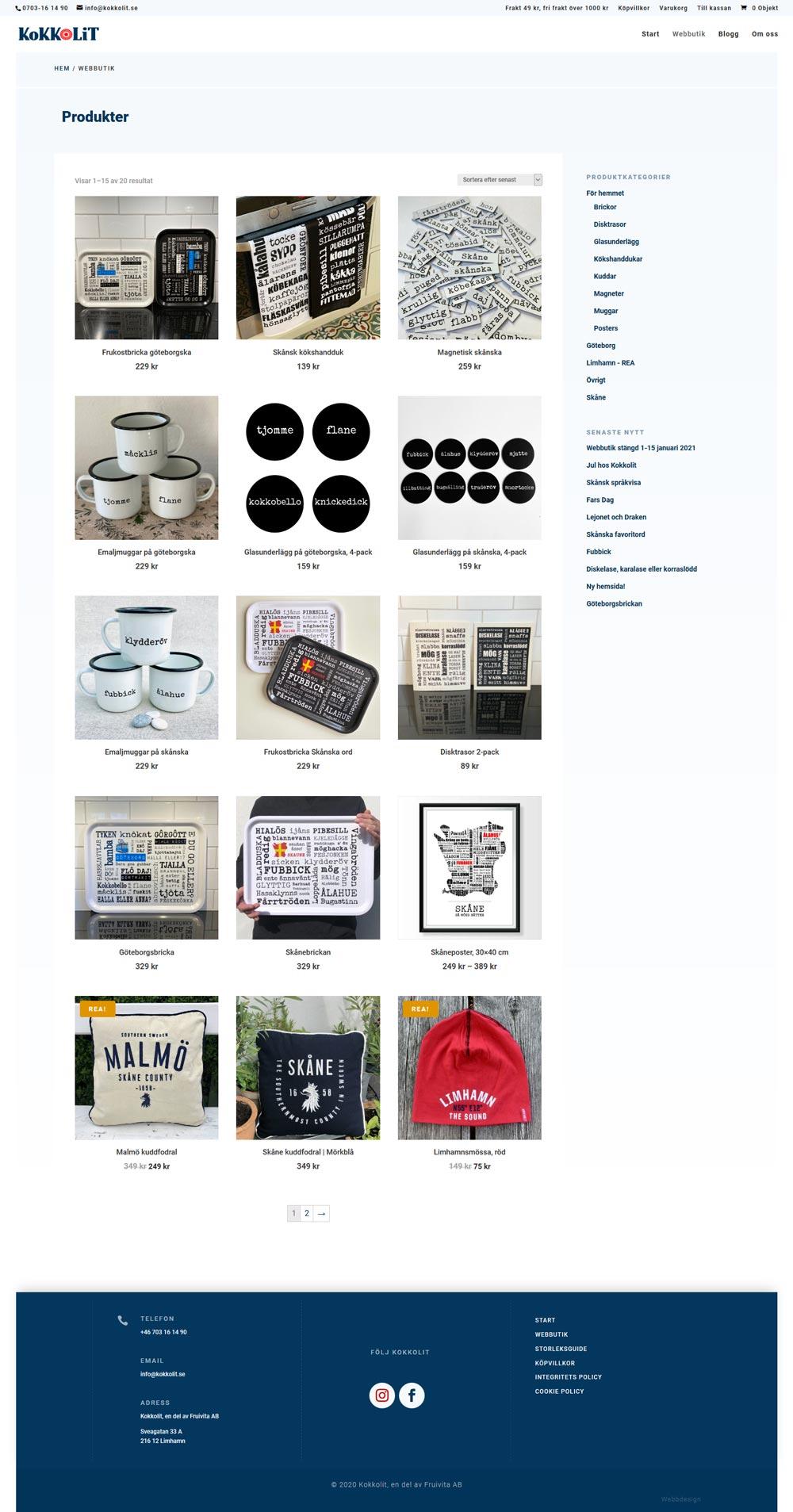 redesign webbutik 2