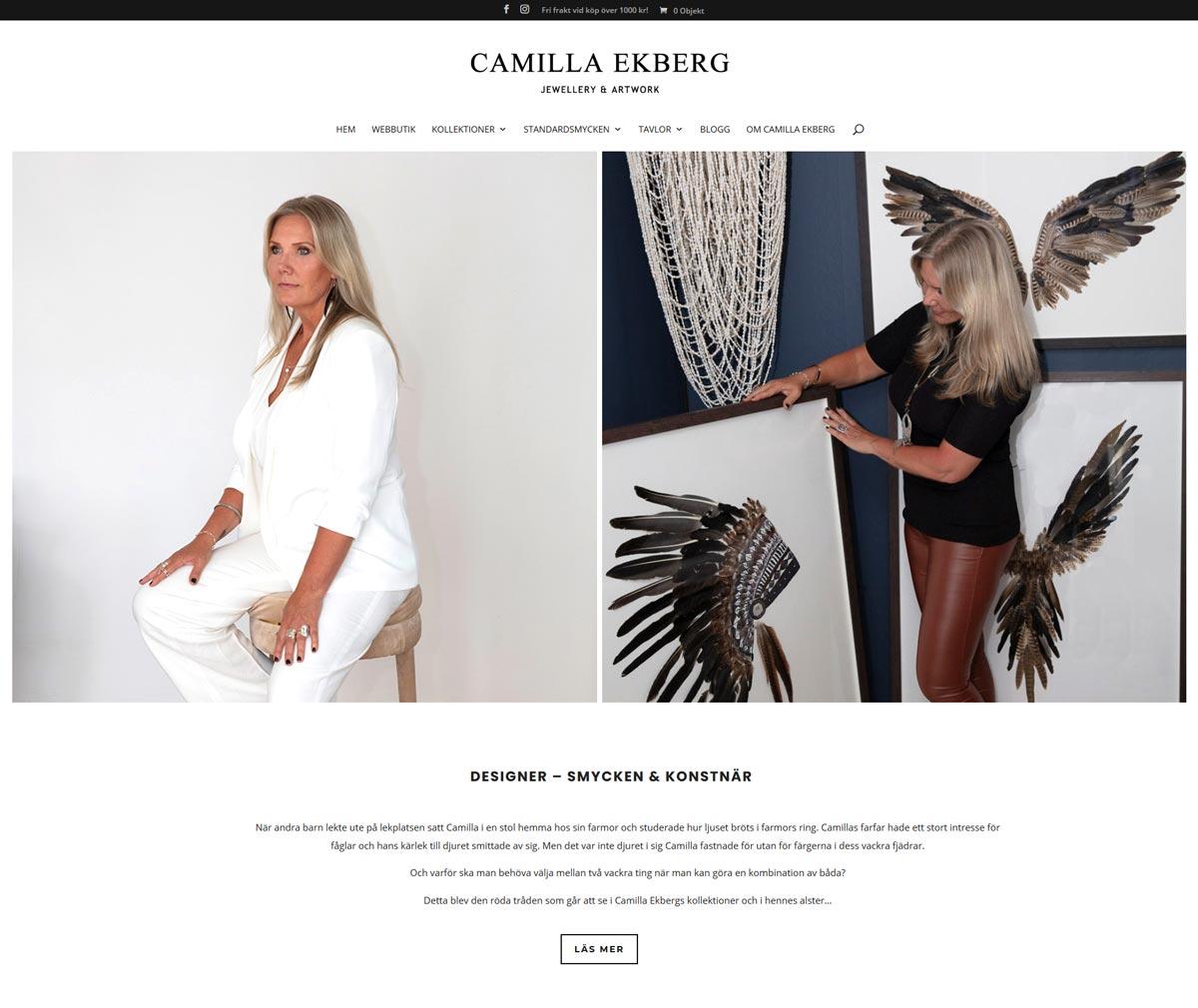Webbshop med vackra smycken & tavlor