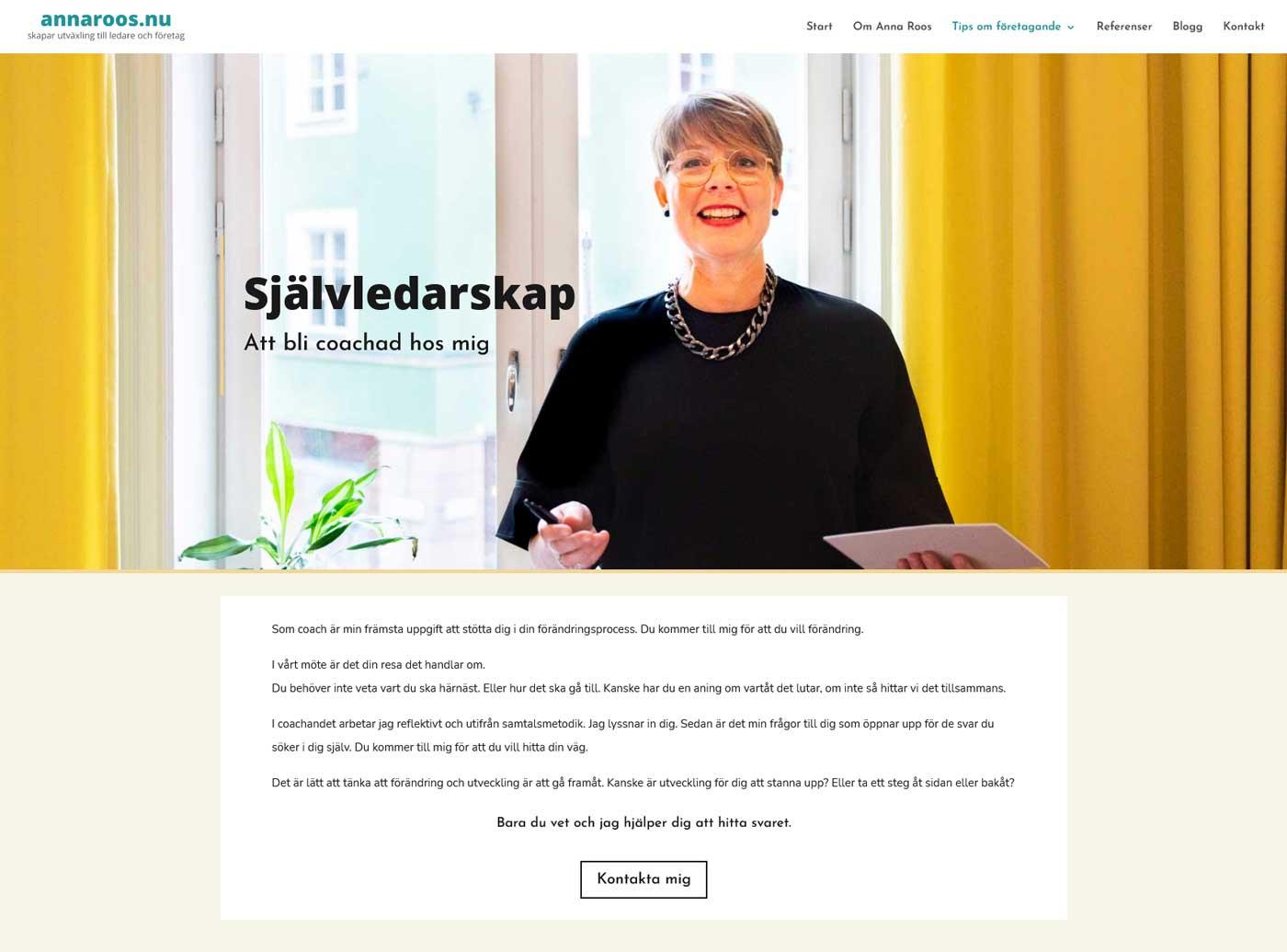 Hemsida för egenföretagare, AS webstudio