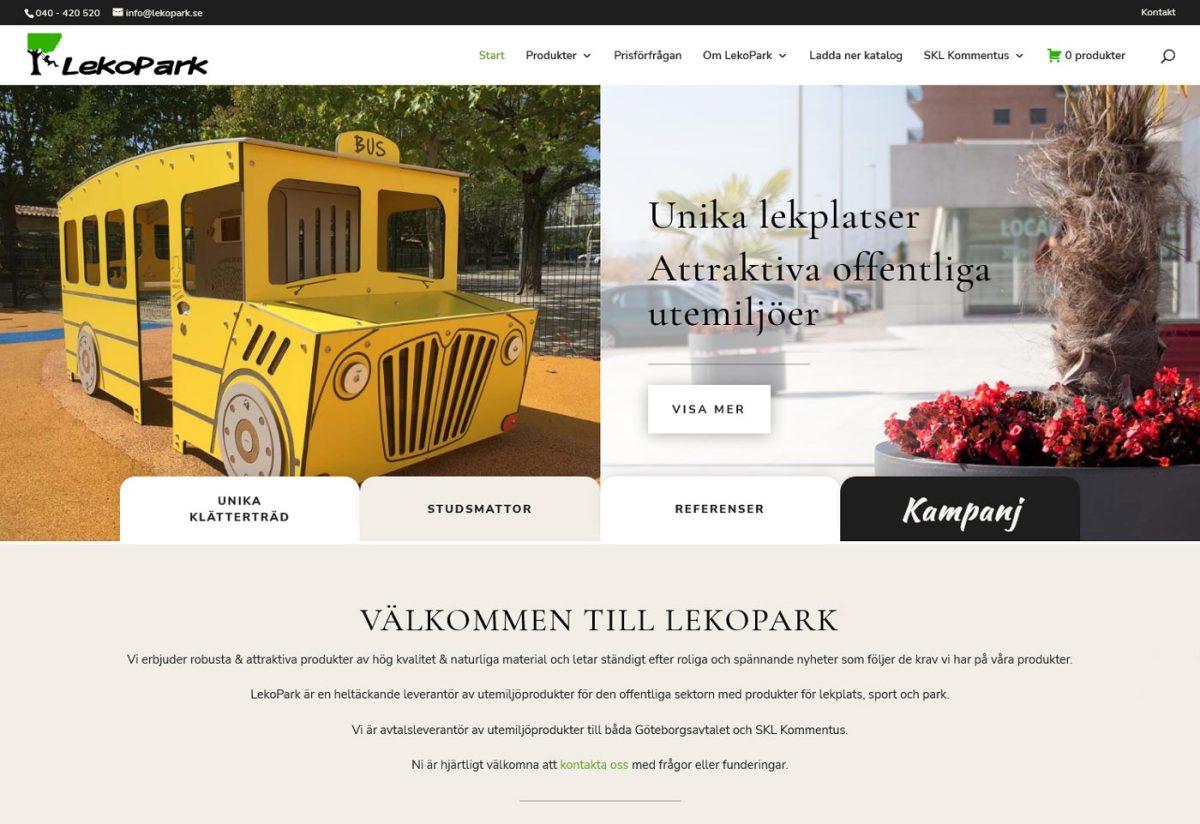 Lekfull hemsida – katalog med produkter